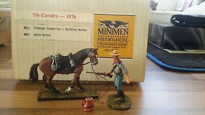 Minimen Custers 7th Cavalry Trooper With Horse Wild West • 50£