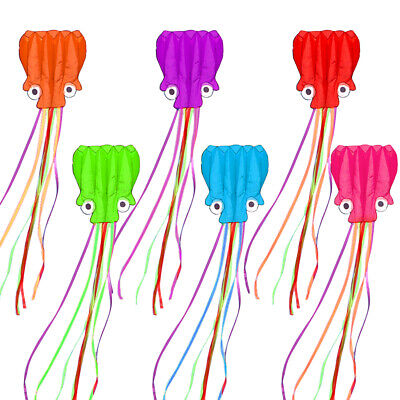 4m Soft Octopus Kite With 30m Line Children Flying Kite Kids Outdoor Toys ❇ • 7.99£