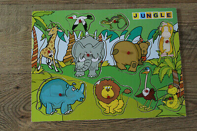 Wooden Jungle Puzzle, CAN BE COLLECTED OR WILL POST • 2.49£