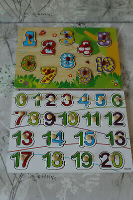 Bundle, Wooden Numbers Puzzle X 2, COLLECTION OR WILL POST • 2.99£