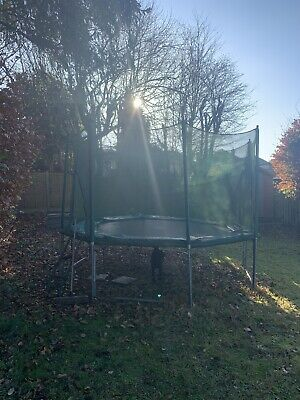 Trampoline 11 X 12 Ft, Jump For Fun Trampolone With Play Roof • 150£