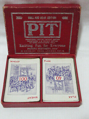 FREE POST Collectable Vintage Card Game  PIT  Bull & Bear Edition Parker Bros • 4.50£