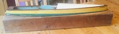 BOWMAN AEROBOAT 1 1930s VINTAGE RUBBER BAND SPEEDBOAT With Box, Incomplete • 150£