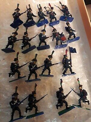 Vintage JOBLOT PAINTED NAPOLEONIC 1/72 WATERLOO ZVEZDA Elite INFANTRY ADVANCING  • 14.99£