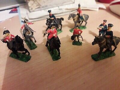 Vintage JOBLOT PAINTED NAPOLEONIC 1/72 WATERLOO  ITALERI COMMAND MOUNTED • 14.99£