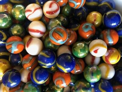 25 X VOLT Marbles 16mm Traditional Children's Game / Collectable • 2.80£