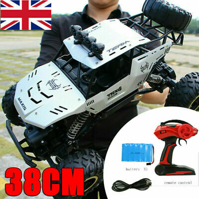 Large Remote Control RC 4WD Big Wheel Toy Car Monster Truck 2.4 GHz RTR Car Toy` • 39.95£