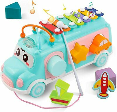 DeeXop Baby Toddler Toys For 1 2 3 4 Year Old Girls Boys Educational Bus...  • 31.89£