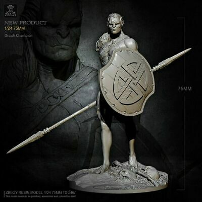1/24 Orcish Champion Resin Modle Kits Toy Soldier Figure TD-2467 • 27.03£