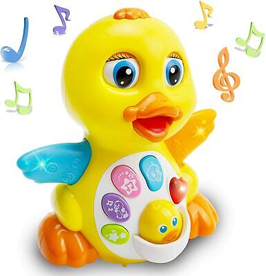 EARSOON Dancing Walking Electric Duck Smart Toys With Music And LED Light...  • 24.29£