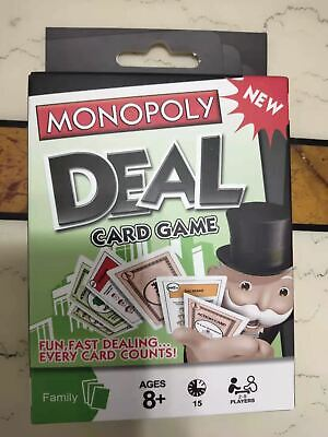 Monopoly Deal Card Game For Ages 8+ New & Sealed Free Postage • 4.99£