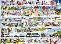 Gibson Cream Teas And Queuing - 1000pc Jigsaw Puzzle • 13.49£