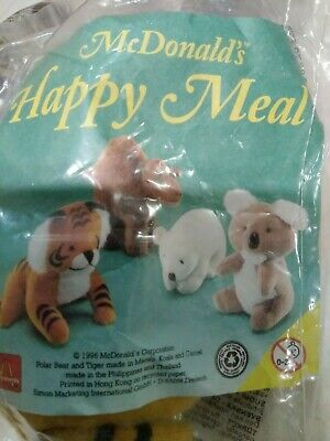 Mcdonalds Happy Meal ,4 Soft Toys,mip,1996. • 5£