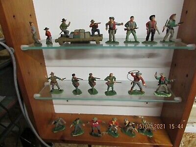 Vintage Timpo Action Pack Britains Cta Well Painted Cowboys  1:32 Scale Job Lot • 9.95£