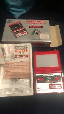 Nintendo Game And Watch Panorama Marios Bombs Away 1983 LCD Game TB94- Near Mint • 205£