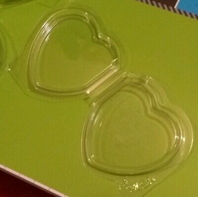 10 Ten X WALSA Heart TAG PROTECTORS For Ty Beanie Baby, Babies, Buddy, Buddies F • 2.99£