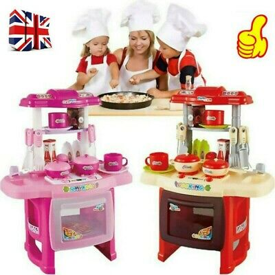Portable Electronic Children Kids Kitchen Cooking Girls Toy Cooker Play Set Gift • 15.60£