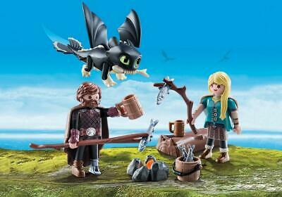 Playmobil Hiccup And Astrid • 12.99£