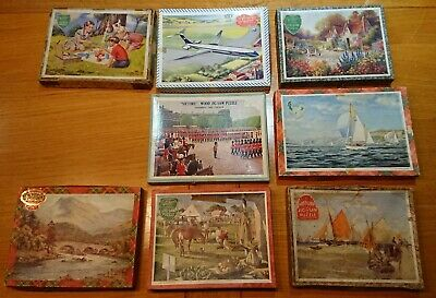 Vintage Victory 8 X Wooden Jig-saw Puzzles P2 And TP2 Series Approx 75 Pieces • 5£