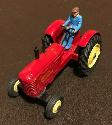 Dinky Massey Harris Massey Fergusson Red Tractor With Driver -Vintage, No Box • 21£
