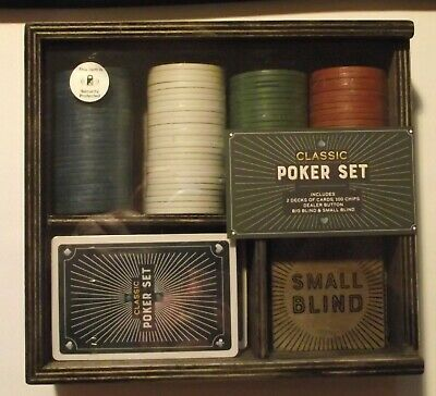 Classic Poker Set - New & Sealed • 13.99£