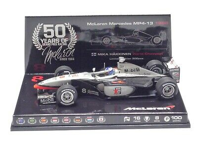 MINICHAMPS 1:43 McLaren MP4/13 M. HAKKINEN World Champion 1998 50th Anniversary • 69.99£