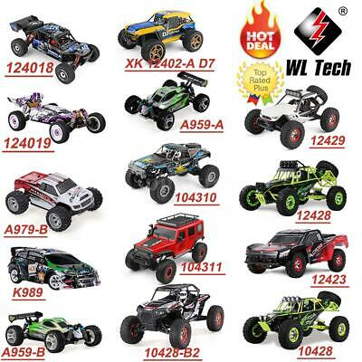 WLtoys 2.4G 4WD RC Car High Speed Electric Remote Controlled Monster Truck Buggy • 134.69£