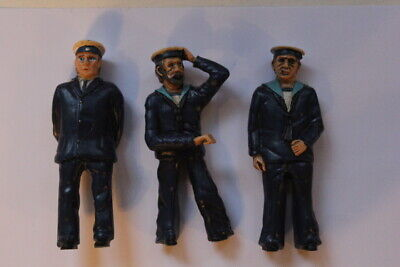Set Of 3 - 1:24 Scale Navy Figures For Model Boats • 15£