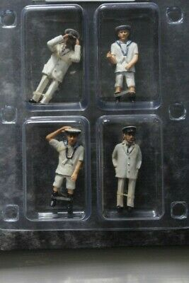 Set Of 4 - 1:32 Scale Tropical Navy Crew For Model Boats • 15£