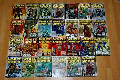 24 Issues Of White Dwarf Magazines 2007 2008 2009 • 30£