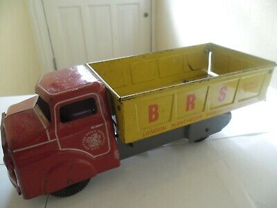 Old Large Vintage Pressed Tinplate Tipper Lorry By Marx England • 35£