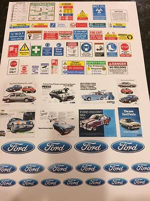 1/18 Diorama FORD Garage Safety Sheet  0022 • 7£