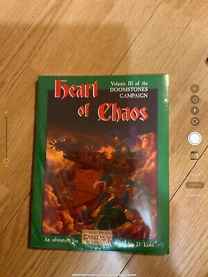 Warhammer Rpg- Heart Of Chaos Volume 3 Doomstones Campaign (Sealed) • 36£