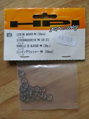 HPI Racing 96704 Locking Washer M4 ( 20 Pcs )  4 X New Unopened Packets • 4.99£