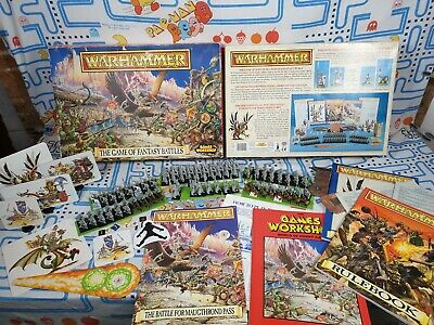 The Game Of Fantasy Battles 4th Edition Warhammer 1992 Goblins Elves Incomplete • 164.99£