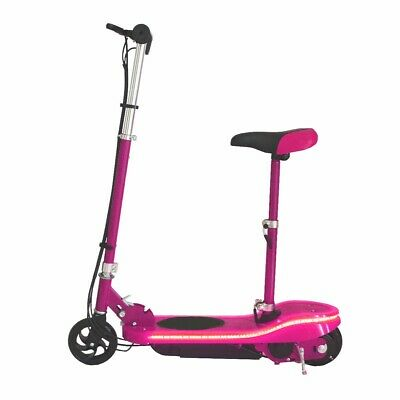Kids Electric E Scooter 24v E Scooter With Seat And LED Lights PINK Scooter • 57£