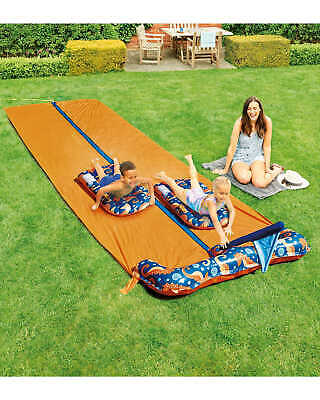 Crane Water DOUBLE Slip And Slide With 2x Inflatable Surf Riders Orange • 34.95£