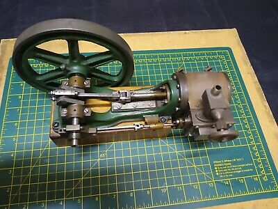 Horizontal Steam  Engine. Vintage Model Stationary Steam Collectors Item • 595£