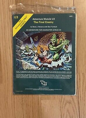 AD&D Module U3 The Final Enemy, Very Good Unused Condition • 17.80£