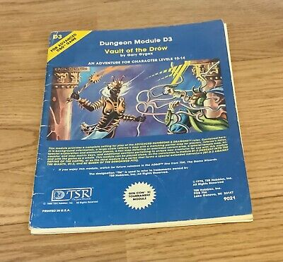 Vault Of The Drow - Advanced Dungeons & Dragons Module D3 • 9.99£