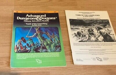Advanced D&D Dungeon Module I2 Tomb Of The Lizard King • 18.70£