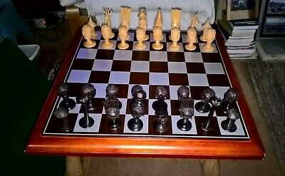 Tribal Chess Pieces • 20£