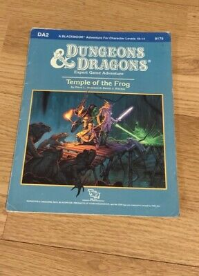 Dungeons & Dragons DA2 Temple Of The Frog Expert Game Adventure TSR9175 • 42£