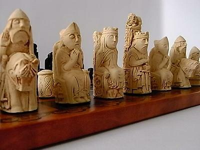 A Medieval / Isle Of Lewis Style Chess Set Of Chessmen Game Pieces-& Interesting • 6.50£
