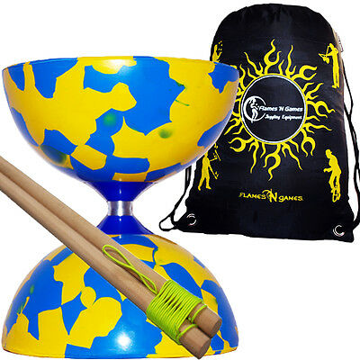 Pro Jester Diabolos -  Diabolo Set + Wooden Diablo Hand Sticks + Travel Bag  • 14.94£