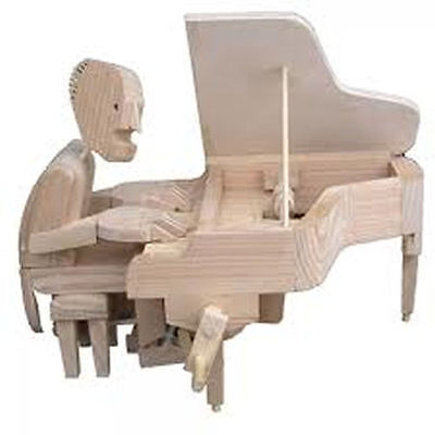 Timberkits Pianist Wooden Moving Automation Kit Great Educational Value Model • 22.95£