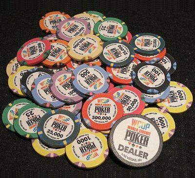 500 X WORLD CIRCUIT OF POKER Ceramic Poker Chips WCOP WSOP • 356.72£