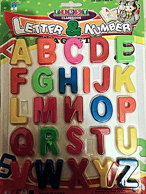 Fridge Magnetic Alphabet Letters A-Z And Or Numbers 0-9 Educational Toys • 3.99£
