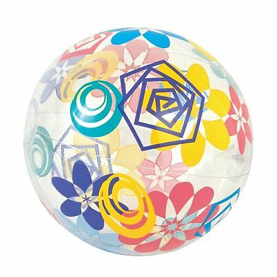 Multicoloured Designer Beach Ball Inflatable Holiday Swimming Pool Party Design • 1.97£