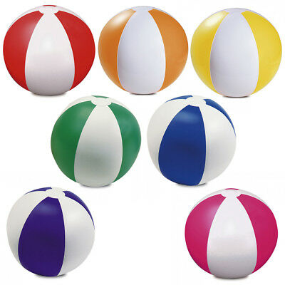 6 X Inflatable Blowup Colour Panel Beach Ball Holiday Party Swimming Garden Toy • 5.99£
